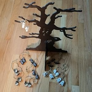 Other - Spooky Wooden Halloween Tree with Ornaments
